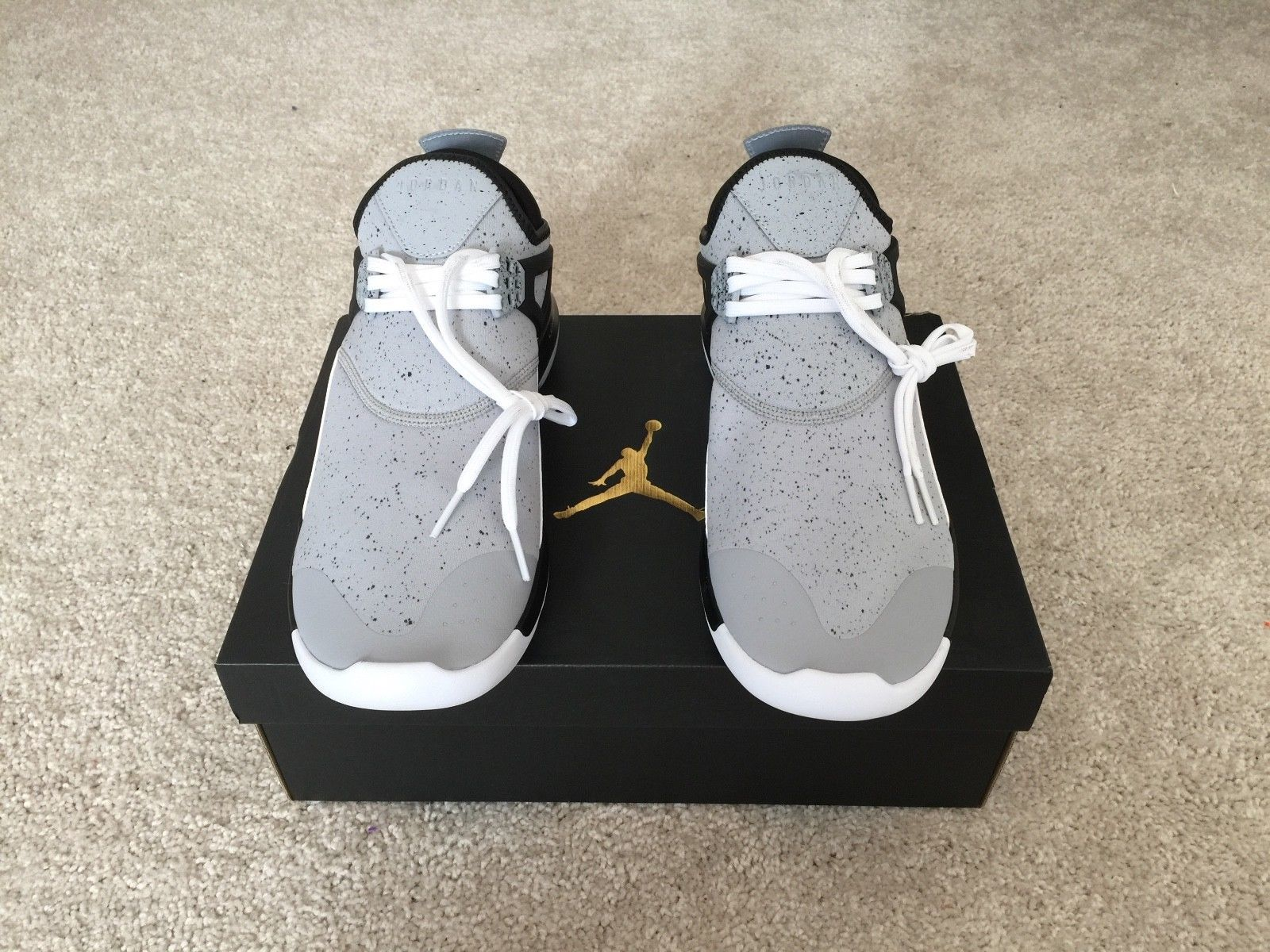 7913a6382a680 NIB Air Jordan Mens Fly  89 Basketball Shoe Wolf Grey Black 940267 013 Size  10.5