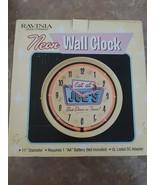 """Neon Wall Clock Eat At Joe's Best Diner In Town Ravinia 11"""" Diameter Bat... - $44.61"""