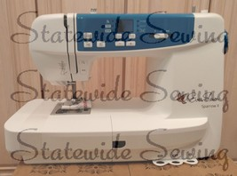 NEW NIB EVERSEWN SPARROW X2 EMBROIDERY FREE ARM SEWING MACHINE WITH HOOPS - $949.99