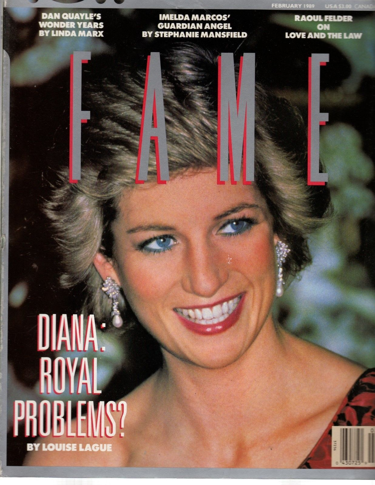 Primary image for Fame Magazine February 1989 (File 1142) Diana: Royal Problems
