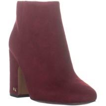 MICHAEL Michael Kors Elaine Block Heel Ankle Boots, Mulberry, 5 US / 35 EU - $61.43