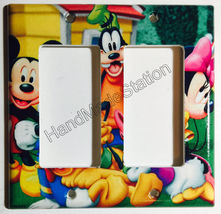 Mickey Minnie Donald Duck Light Switch Power Outlet wall Cover Plate Home decor image 5