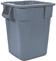 Rubbermaid Commercial Products 40-Gallon Gray Plastic Touchless Trash Can - $102.91