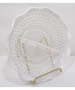 Anchor Hocking Moonstone 2 Part Relish Dish Opalescent crimped ruffled e... - $39.99