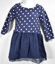 Girls BOUTIQUE HANNA ANDERSSON NAVY BLUE White POLKA DOT TULLE DRESS 90 3T - $18.80