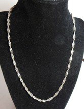 Vintage Sterling Silver Twisted Helix Chain - $17.81