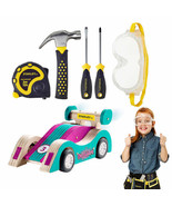 New Stanley Jr. Pull Back Sports Car Kit & 5 Piece Tool Set - Teal FREE ... - $43.55