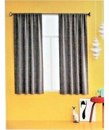 Room Essentials Heathered Thermal Room Darkening Curtain Panel Charcoal ... - $9.89