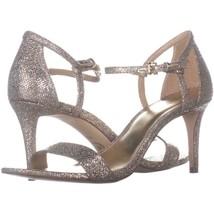 MICHAEL Michael Kors Simone Mid Sandal Ankle Strap Sandals 616, Silver/S... - $32.63