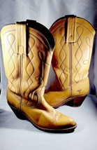 Frye Western Cowboy Boots Butterscotch Tan Brown Leather 7972 Womens Siz... - $47.45
