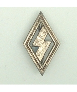 WW2 Original German Hitler youth DJ single rune cut out pin badge - $30.00