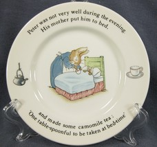 Wedgwood Peter Rabbit Bread & Butter Plate Beatrix Potter England - $14.95