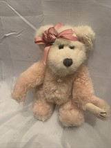 """Boyds Bear """"Guinevere Rosebud"""" pink and white with pink Rosebud hairband... - $18.69"""