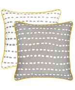 TreeWool, (Pack of 2) Long Dots 2-in-1 Accent Throw Pillow Covers in Cot... - $17.99