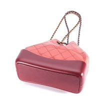 BRAND NEW AUTH 2018 Chanel Pink Gabrielle Quilted Leather Bucket Bag GHW  image 7