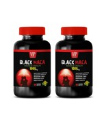 anti inflammation eating - BLACK MACA - mood boost natural supplement 2 BOTTLE - $28.01
