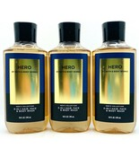 3 Bath & Body Works HERO Men's Collection 3 in 1 Hair Face & Body Wash 1... - $37.99