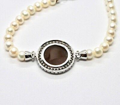 Armband 925 Silber mit Perlen Wasser Dolce Kamee Kamee Zirkonia Kubische image 4