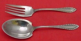 "Godroon by Towle Sterling Silver Salad Serving Set All Sterling 8 1/2"" - $264.20"