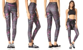 Terez Women's Tall Band Pants Leggings, Neon Splatter - 7744