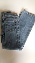 Blue jeans size 7 girls stretch 24x23 boot cut  - $9.95