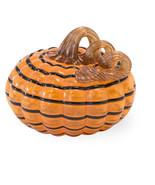 Orange & Black Small Striped Pumpkin by Boston International - $22.72