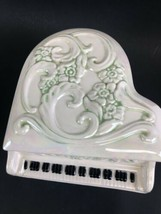 Vintage Handmade Ceramic Music Box Piano 1980's image 2