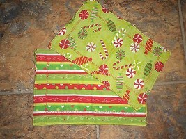 Nice multi colored set of 3 handmade small placemats - $3.95