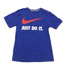 Nike Just Do It Camisa Grande Swoosh Logo Estándar Corte Normal Azul Man... - $22.88