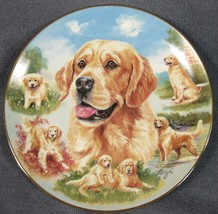 Loyal Companion Collector Plate For The Love Of Goldens Linda Picken Dogs - £16.93 GBP