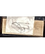 Wood Craft Pencil Box (NEW) - $4.90