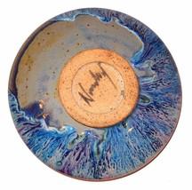 Glazed Pottery Flower Frog signed Newbury Purpl... - $39.95