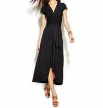2280 Michael Kors Women's Black Petite High-low Faux-wrap Dress size 2 - $59.12