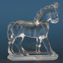 Vintage Smith Glass Miniature Crystal Horse Walking image 2