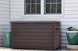 Keter XXL 230-Gallon Deck Box, Brown - Ready to Ship image 2