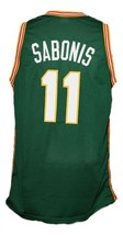 Arvydas Sabonis #11 Lietuva Custom Basketball Jersey New Sewn Green Any Size image 5