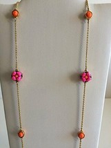 NWT Kate Spade O0RU1001 Plated Chain Linked Scatter Necklace $68 - $44.99