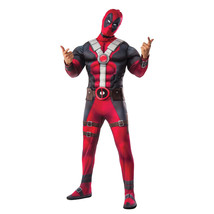 Deadpool Muscle Chest Adult Cosyplay Halloween Costume Red - $54.98