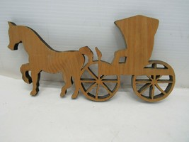 Hand Made Amish Buggy Wood Carved Wall Hanging - $16.82