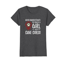Power of Girl With Cane Corso T-Shirt for Feminist Dog Mom - $19.99+