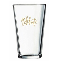 Kate Aspen #Celebrate Pint Glasses (Set of 4), 16 oz, Clear - $19.64