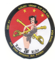 """4.5"""" Army 7TH Squadron 17TH Calvary Regiment Azrael Troop Embroidered Patch - $17.09"""
