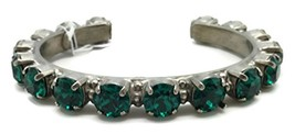 Sorrelli Green Round Cut Antique Silvertone Crystal Cuff Bracelet - $85.08