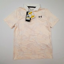 Under Armour Loose Boys Polo Shirt Size M Multicolor Stretchy H9  - $17.81