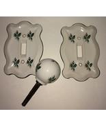 Set of Vintage Floral Design Switch Plates And Floral Door Knob - $49.99