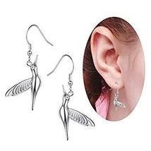 Novelty Heart Hummingbird Jewelry 925 Sterling Silver Fine Jewelry Cute ... - $18.99