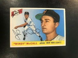 1955 Topps Baseball Card #42 Windy Mc Call - New York Giants - $4.90