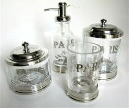 Vintage Classic French Pharmacie Droguerie L Vilain  Bath Cotton Ball Canister