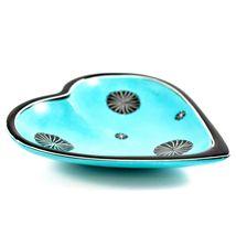 SMOLArt Hand Carved Soapstone Light Blue Heart Shaped Soap Dish Trinket Bowl image 3