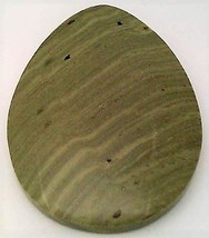 Green Banded Jasper Cabochon 104 - $7.90